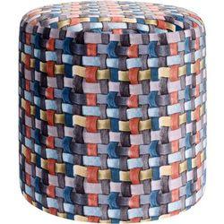 Pufa bawełniana, siedzisko, podnóżek, kolorowy - 35 x 35 cm