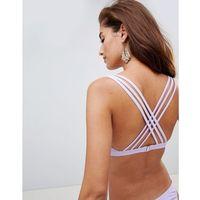 Stroje kąpielowe, Y.A.S strappy cross back bikini top - Purple