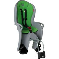 Foteliki rowerowe, Fotelik rowerowy Hamax Kiss szary, zielona wyściółka