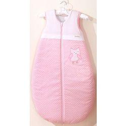 MAMO-TATO Śpiworek dziecięcy haftowany Sówki uszatki różowe 86-110