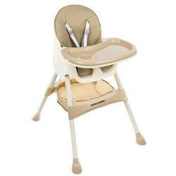 Krzesełko do karmienia 3w1 beżowe Taca Fotelik