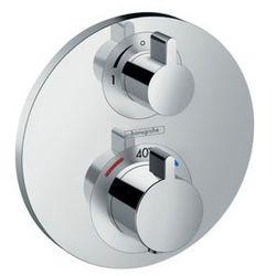 Hansgrohe bateria termostatyczna Ecostat S z zaworem odcinającym, montaż podtynkowy, element zewnętrzny Ecostat S 15757000