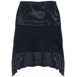 Elastyczna spódnica z połyskującym nadrukiem bonprix czarno-srebrny