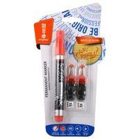 Markery, Marker permanentny + 2 ampułki czerwony MemoBe
