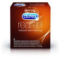 Prezerwatywy, Durex Prezerwatywy Real Feel 3 szt