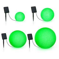 Blumfeldt Shinestone Solar, zestaw kul świetlnych, 4 sztuki, panel słoneczny, RGB-LED, IP68
