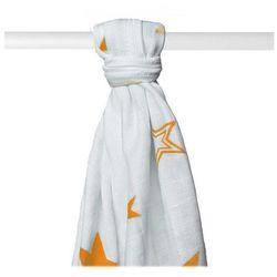 Pielucha bambusowa/ ręczniczek 90x100cm Orange Stars XKKO 1 szt. - Orange Stars - BEZPŁATNY ODBIÓR: WROCŁAW!