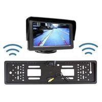 """Kamery monitoringowe, Bezprzewodowa Kamera Parkowania (dzień-noc) w Ramce Tablicy Rejestracyjnej + Monitor LCD 4,3""""."""