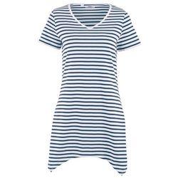 Koszulka z długim rękawem bonprix biały z nadrukiem