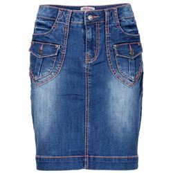 """Spódniczka dżinsowa """"authentic-stretch"""" bonprix niebieski"""
