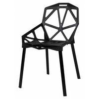 Krzesła, Krzesło metalowe KAZADI CZARNE