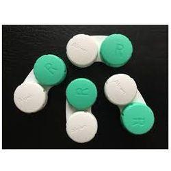 Pojemniczek na soczewki zestaw 10 szt biało zielony