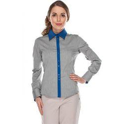 Koszula z niebieskimi wstawkami - Duet Woman