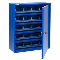 Szafka warsztatowa z niebieskimi pojemnikami, 580x470x205 mm