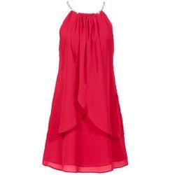 Sukienka szyfonowa z kolią bonprix czerwony