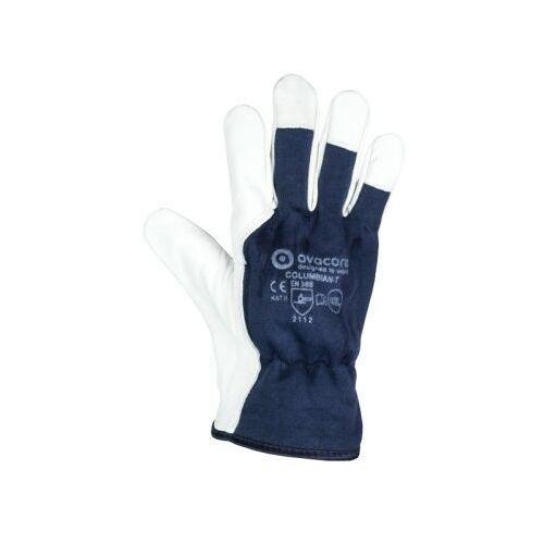 Rękawice ochronne, Rękawice robocze techniczne kozia skóra COLUMBIAN-T TOPER kategoria II