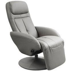 Wypoczynkowy rozkładany fotel obrotowy Timos - popielaty