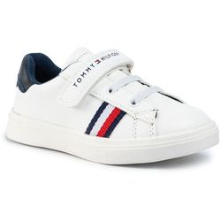 Sneakersy TOMMY HILFIGER - Low Cut Velcro T1B4-30491-0740X336 White/Blue X336