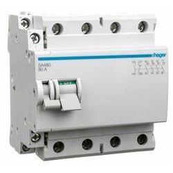 Rozłącznik izolacyjny 4-biegunowy 80A ze stykiem pomocniczym SA480 HAGER