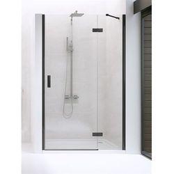 New Trendy drzwi wnękowe New Renoma Black 90 prawe, wys. 195 cm, czyste szkło D-0196A