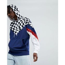 ASOS x Star Wars Oversized Hoodie With Checkerboard & Printed Tape - Blue