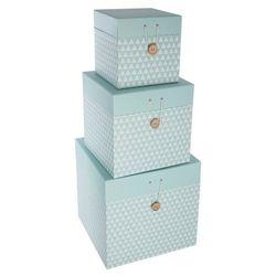 Pudełko ozdobne na drobiazgi ATOMIC HOME - 3 sztuki w komplecie, kolor miętowy
