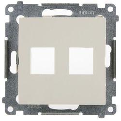 Simon 54 Pokrywa gniazda teleinformatycznego podwójnego 2xRJ Keystone płaska kremowa DKP2.01/41 WMDK-P2xxxx-041 KONTAKT-SIMON