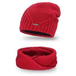 Komplet PaMaMi, czapka i komin - Czerwony - Czerwony