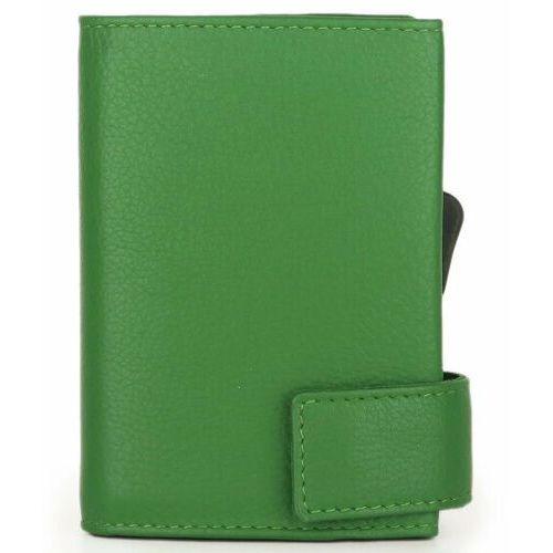 Etui i pokrowce, SecWal SecWal 1 Kreditkartenetui Geldbörse RFID Leder 9 cm grün ZAPISZ SIĘ DO NASZEGO NEWSLETTERA, A OTRZYMASZ VOUCHER Z 15% ZNIŻKĄ