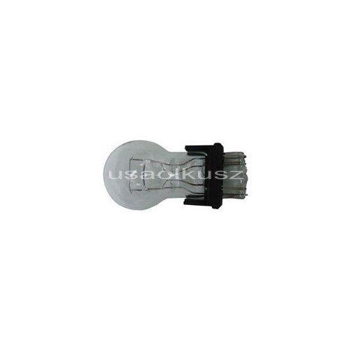 Żarówki halogenowe samochodowe, Biała dwuwłóknowa żarówka 3157 12V P27/7W - trzonek W2,5x16q