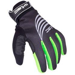 Rękawice sportowe zimowe W-TEC Grutch AMC-1040-17, Czarno-zielony, S