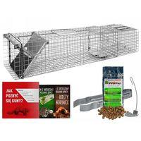 Środki na szkodniki, Pułapka na kuny, bobry, lisy i koty z komorą. Klatka na kuny 105x21x21cm.