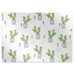 Podkładka pod krzesło obrotowe Podkładka pod krzesło obrotowe Zielone kaktusy