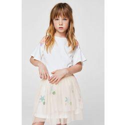 Mango Kids - Spódnica dziecięca Pale 104-152 cm