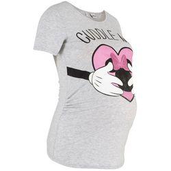 Shirt ciążowy z nadrukiem z disneyowskim motywem bonprix jasnoszary melanż