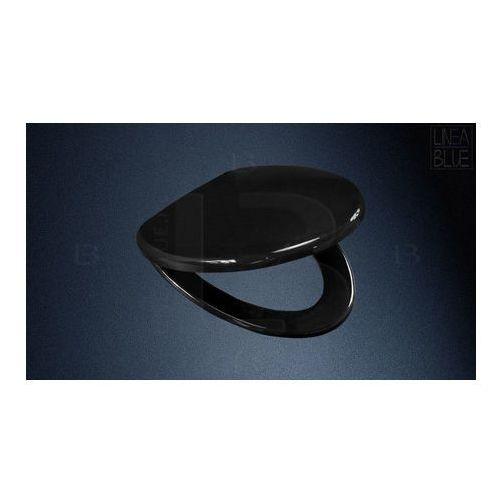 Deski i pokrywy do toalet, Deska sedesowa wolnoopadająca DS-301 BLACK