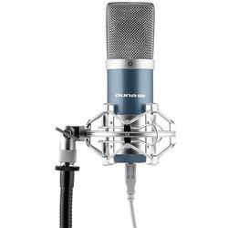 Auna MIC-900BL USB Mikrofon pojemnościowyniebieski Charakterystyka kardioidalna studyjny