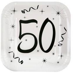 Talerzyki na pięćdziesiąte urodziny - 23 cm - 10 szt.