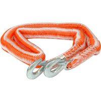 Linki holownicze, Linka holownicza elastyczna 2500 kg z hakiem / 82225 / VOREL - ZYSKAJ RABAT 30 ZŁ