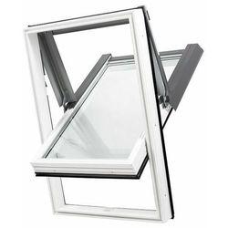 Okno dachowe DOBROPLAST SKYLIGHT PCV 78x140 białe oblachowanie brązowe + kołnierz falisty zestaw