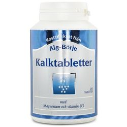 Kalktabletter Wapń, Alg-Börje, 250 tabletek