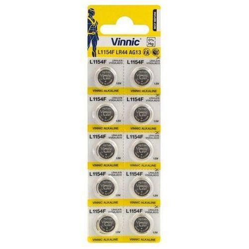 Baterie, 10 x bateria alkaliczna mini Vinnic G13 / AG13 / L1154 / LR44/157 / V13GA / RW82 / A76