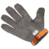 Rękawice robocze, Rękawica metalowa z pomarańczowym paskiem, krótka, rozmiar XL | GIESSER, 9590 00