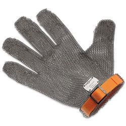 Rękawica metalowa z pomarańczowym paskiem, krótka, rozmiar XL | GIESSER, 9590 00