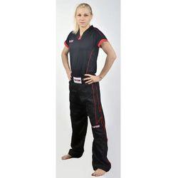 Spodnie do kickboxingu TOP TEN - SKBP-TT4 - Czarno-czerwony