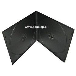 Etui plastikowe na 2DVD SLIM 7mm kwadratowe czarne