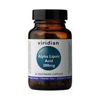 Witaminy i minerały, Kwas alfa liponowy ALA Alpha Lipoic acid 200mg 30 kapsułek Viridian