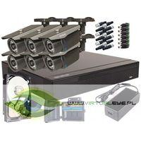 Zestawy monitoringowe, Zestaw pełny: Rejestrator GS-M1008FH-V2 + 6x Kamera GS-2CM4-30IR-V + Dysk 1 TB