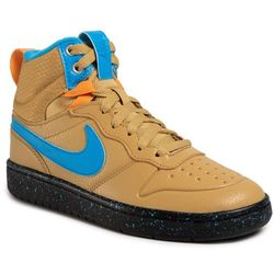 Buty NIKE - Court Borough Mid 2 Boot (GS) BQ5440 701 Club Gold/Blue Hero/Kumquat