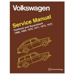 Volkswagen Fastback and Squareback Type 3 Official Service Manual 1968-1973 (opr. twarda)
